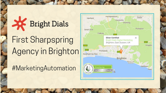 Map Showing Bright Dials as First Sharpspring Agency in Brighton