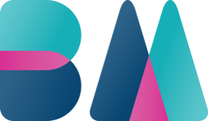 Bright Mavericks turquoise, magenta and navy Logo