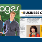 Image showing the front page of Images Magazine and the Business Clinic header and some of the article