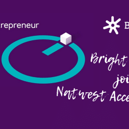 Bright Dials logo next to Natwest Entrepreneur Accelerator graphic