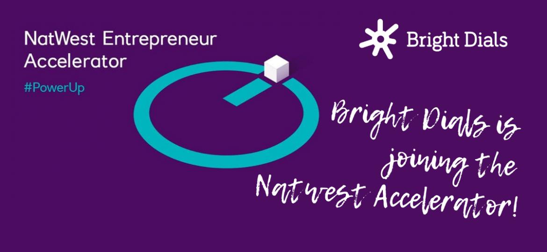 Bright Dials logo next to Natwest Entrepreneur Accelerator graphic